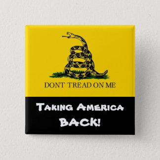 ¡Retirando América! - No pise en mí Chapa Cuadrada