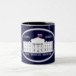 Retire la Casa Blanca de Rusia Taza De Café De Dos Colores