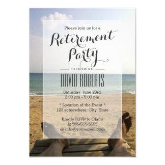 Retírese en las invitaciones del fiesta de retiro