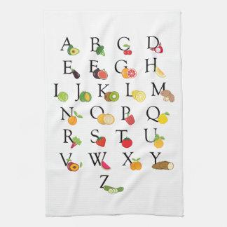 Retiro A del profesor a alfabeto de Veg de la Toalla