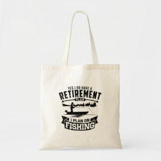Retiro de la pesca bolso de tela