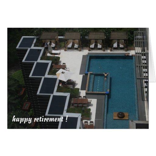 retiro de la piscina felicitaciones