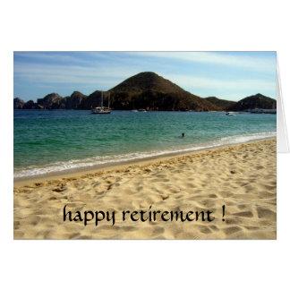 retiro de la playa tarjeta de felicitación