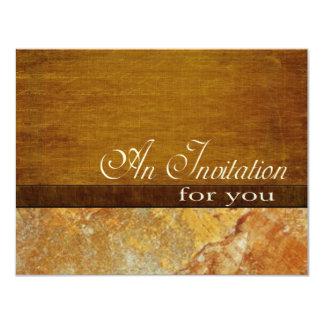 Retiro de piedra de madera 4.5x5.5 del ejecutivo invitación 10,8 x 13,9 cm