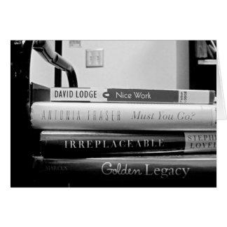 Retiro del bibliotecario del camión de tarjeta de felicitación