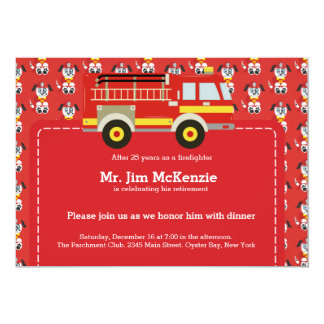 Retiro del bombero comunicado personalizado