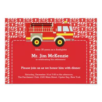 Retiro del bombero invitaciones personales