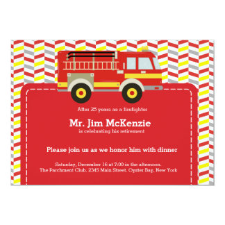Retiro del bombero invitacion personal
