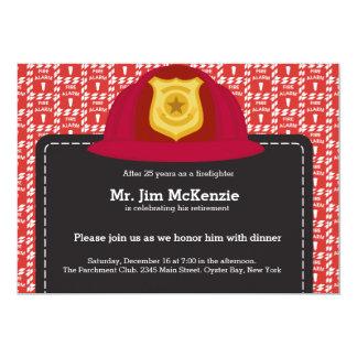 Retiro del bombero comunicados personalizados