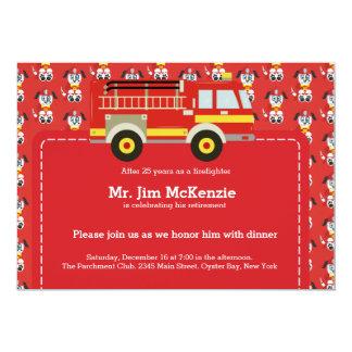 Retiro del bombero invitación 12,7 x 17,8 cm