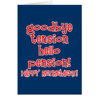 ¡Retiro feliz Camisetas y regalos del jubilado Tarjeta