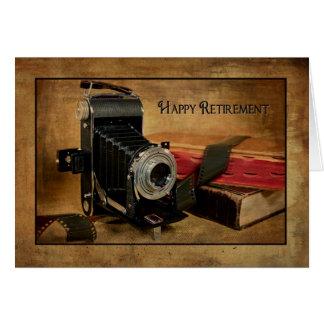 Retiro feliz para el fotógrafo tarjeta de felicitación