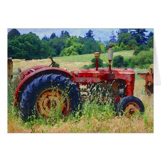 Retiro rural tarjeta de felicitación