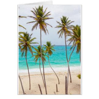 Retiro tropical tarjeta de felicitación