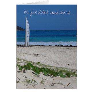 Retiro, vacaciones, rotura tarjeta de felicitación