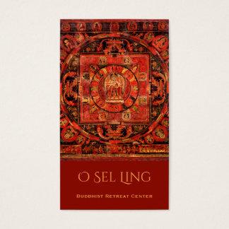 Retratamiento del budista de Amogapasha Thangka Tarjeta De Negocios