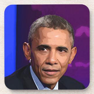 Retrato abstracto de presidente Barack Obama 9 Posavasos