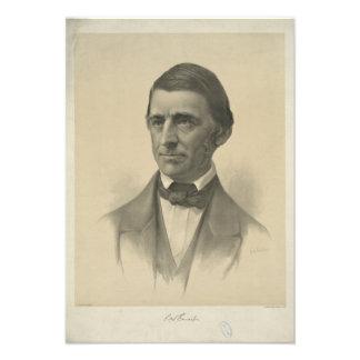 Retrato americano de Ralph Waldo Emerson del ensay Comunicados Personalizados