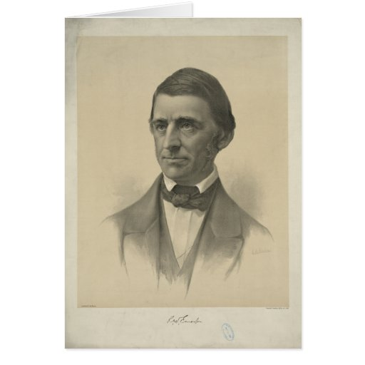 Retrato americano de Ralph Waldo Emerson del ensay Tarjeta