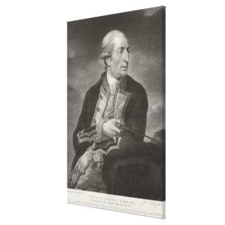 Retrato capitanes del granjero de George de 1732-7 Lona Envuelta Para Galerias