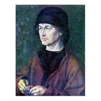 Retrato de Albrecht Dürer la anciano Postal