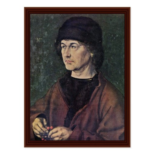 Retrato de Albrecht Dürer la anciano Postales