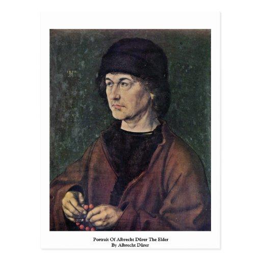 Retrato de Albrecht Dürer la anciano Tarjeta Postal