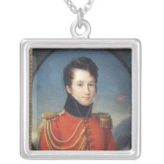 Retrato de Alfred de Vigny Collar Plateado
