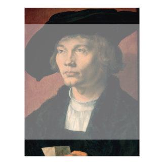 Retrato de Bernard von Reesen por Durer Folleto 21,6 X 28 Cm