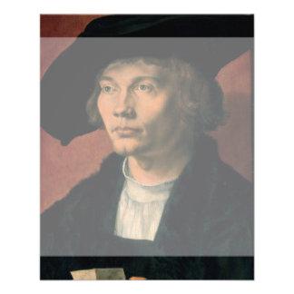 Retrato de Bernard von Reesen por Durer Folleto 11,4 X 14,2 Cm