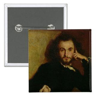 Retrato de Charles Baudelaire 1844 Chapa Cuadrada