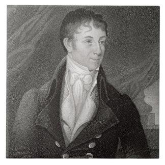 Retrato de Charles Brockden Brown (1771-1810), en Azulejo Cuadrado Grande