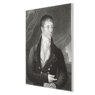Retrato de Charles Brockden Brown (1771-1810), en Impresión En Lienzo