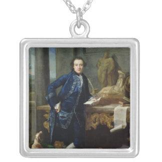 Retrato de Charles Juan Crowle de Crowle Collar Plateado