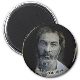 Retrato de Colorized Walt Whitman Imán