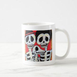 Retrato de Dia de los Muertos Family Taza De Café