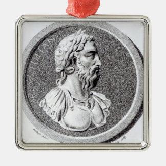 Retrato de Didius Julianus Adorno Navideño Cuadrado De Metal
