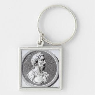 Retrato de Didius Julianus Llavero Cuadrado Plateado