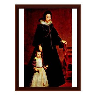 Retrato de Doña Antonia Ipeñarrieta con un hijo Tarjetas Postales
