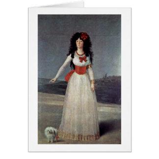 Retrato de duquesa Of Alba By Francisco De Goya Tarjeta De Felicitación