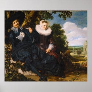 Retrato de en Beatrix van der Laen de Isaac Massa Póster