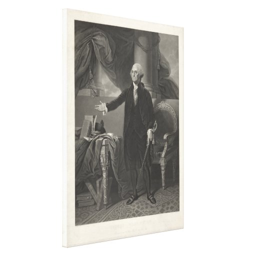 Retrato de GEORGE WASHINGTON de Henry S. Sadd Impresión En Lona
