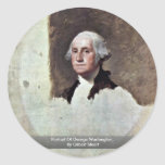 Retrato de George Washington, por Gilbert Estuardo Etiqueta Redonda
