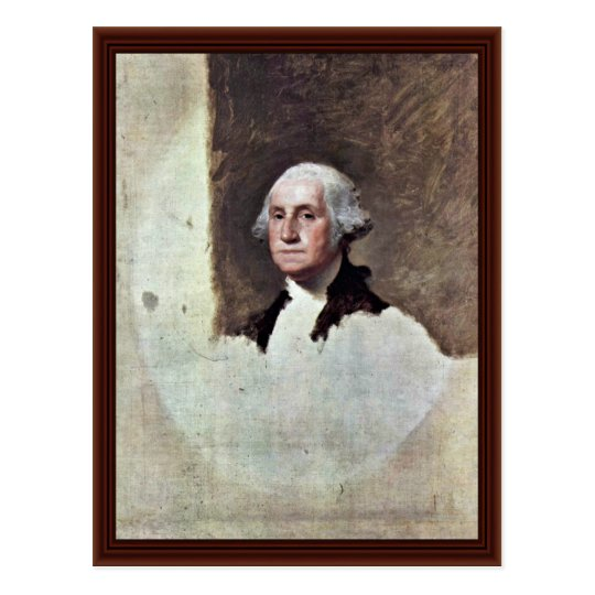 Retrato de George Washington, por Gilbert Estuardo Postal