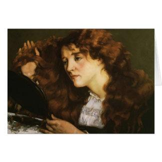 Retrato de Gustavo Courbet- de Jo, el chica irland Tarjeta De Felicitación