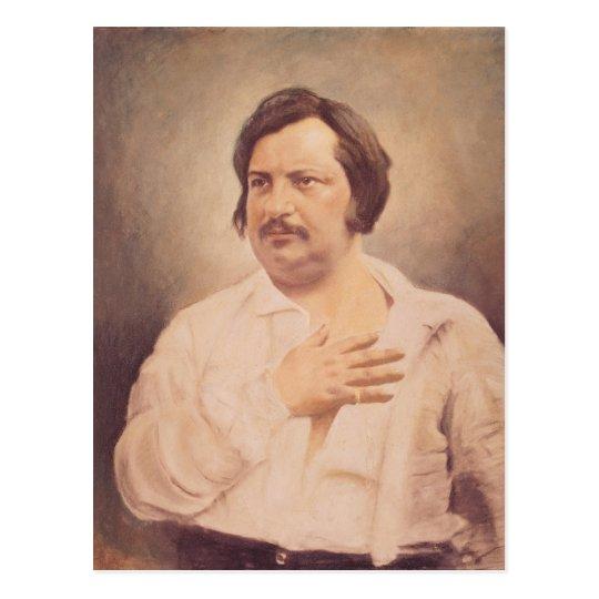 Retrato de Honore de Balzac Postal
