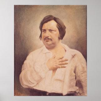 Retrato de Honore de Balzac Póster