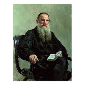 Retrato de Ilya Repin- de León Tolstói Postal