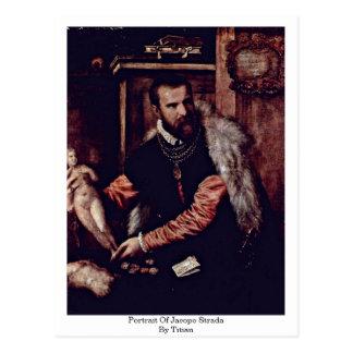 Retrato de Jacopo Strada por Titian Postal