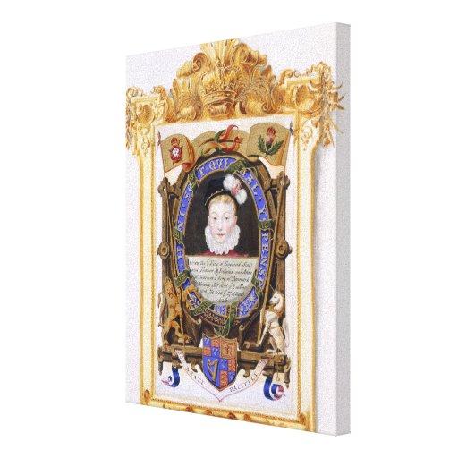 Retrato de James VI de Escocia (1566-1625) más ade Impresión En Lona Estirada